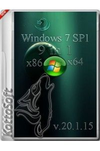 Windows 7 x86/x64 SP1 9 in 1 KottoSOFT v.20.1.15 RUS