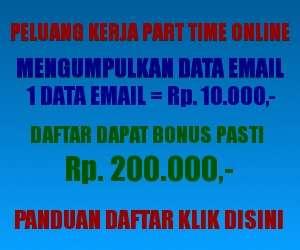 Peluang Kerja Part Time Online