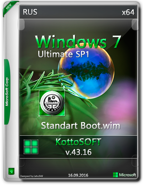 Windows 7 Ultimate KottoSOFT(x64) [v.43] [Ru] [2016]