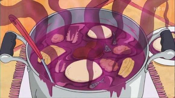 감자 대신 자색고구마로 스튜를 만든 일본인