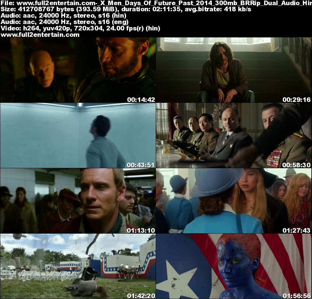 X-Men: Days of Future Past (2014) Full Movie Free Download HD 300mb