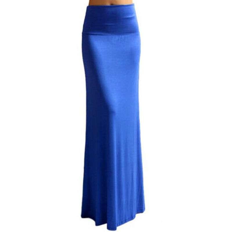 fashion solid waist foldover lightweight rayon