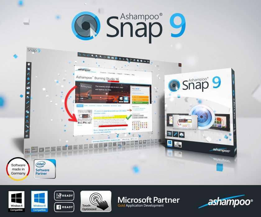 Ashampoo Snap 9.0.0 RePack & Portable by KpoJIuK