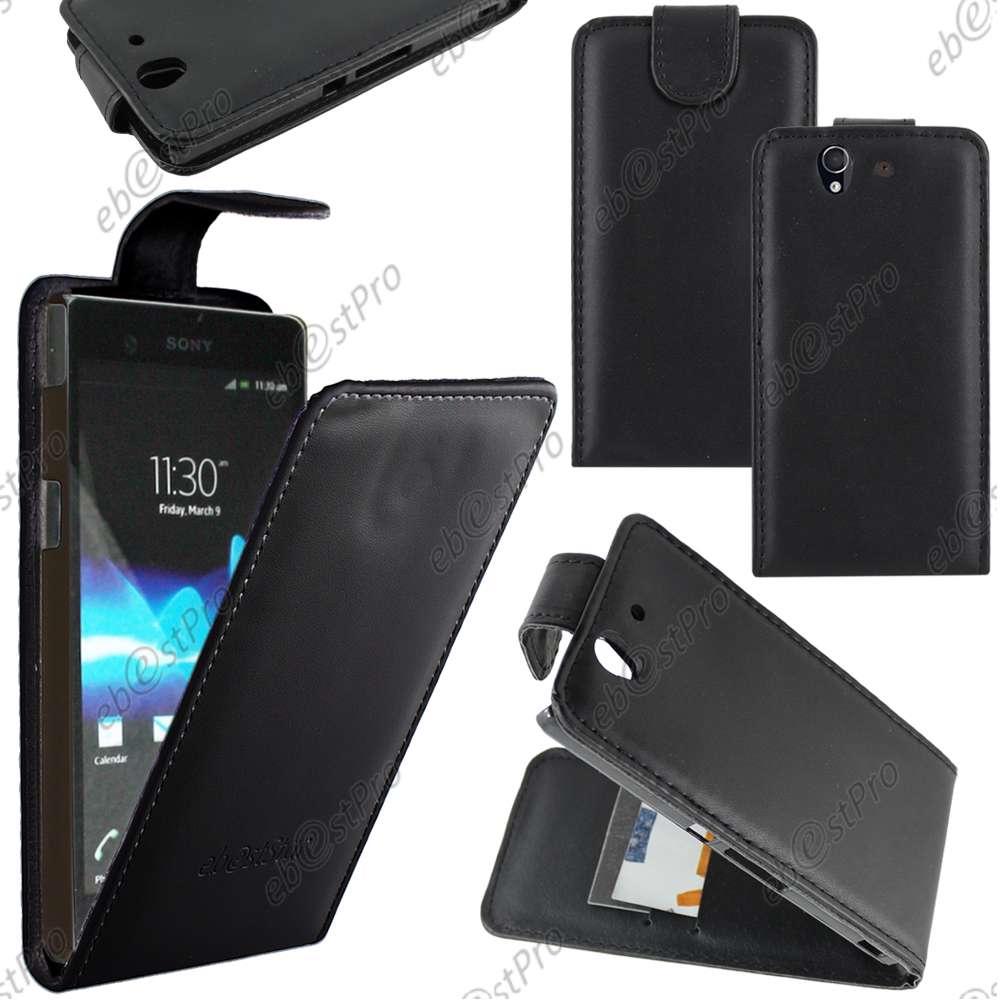 Housse-Etui-Coque-a-Rabat-Flip-Simili-Cuir-Sony-Xperia-Z5-Premium-Z5-Z3-Compact