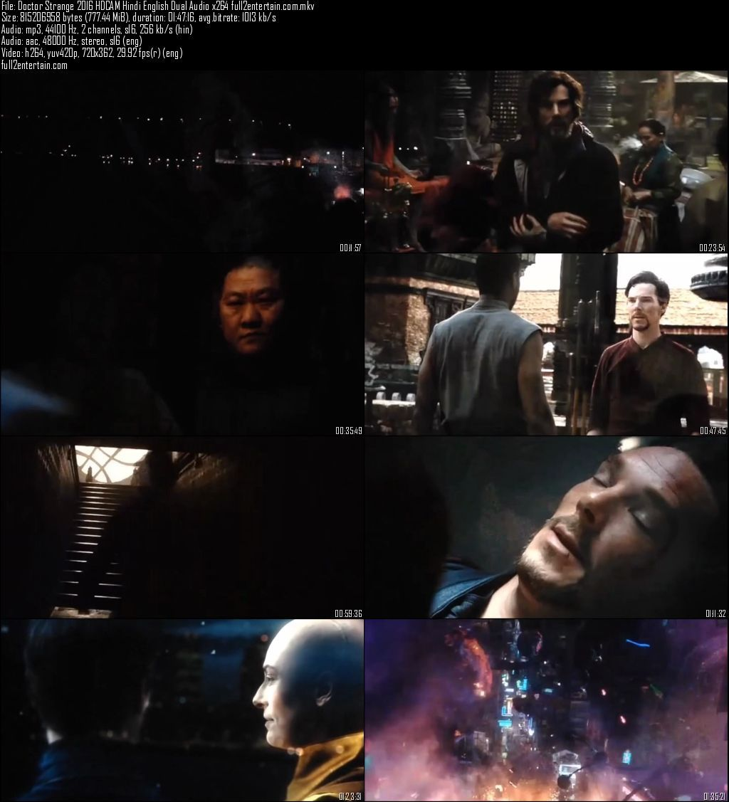 Doctor Strange 2016 Movie Download Dual Audio Hindi Dubbed