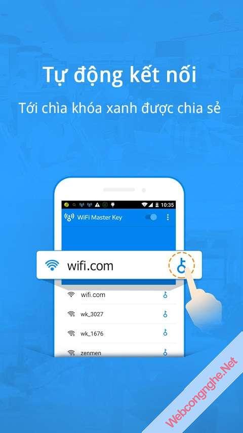 Wifi Master Key - Kết nối dò tìm Wifi miễn phí trên Android