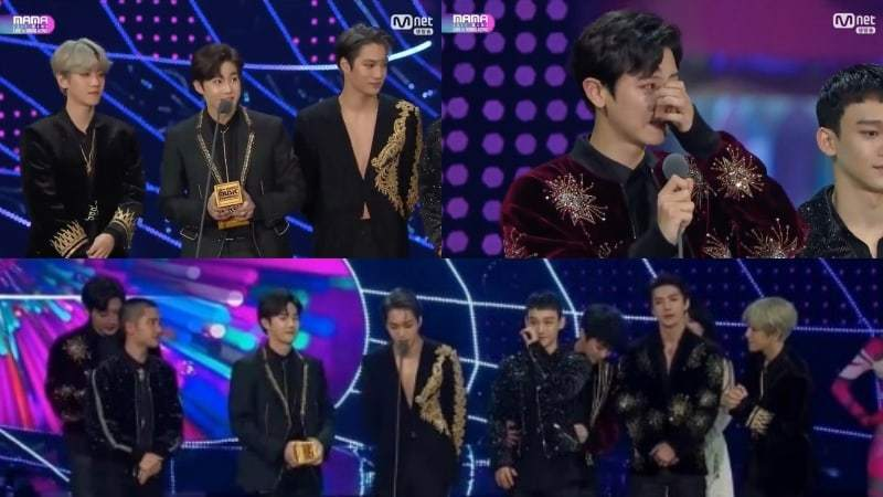 EXO Wins Album Of The Year For Record-Breaking 5th Year In A Row At 2017 Mnet Asian Music Awards (MAMA)