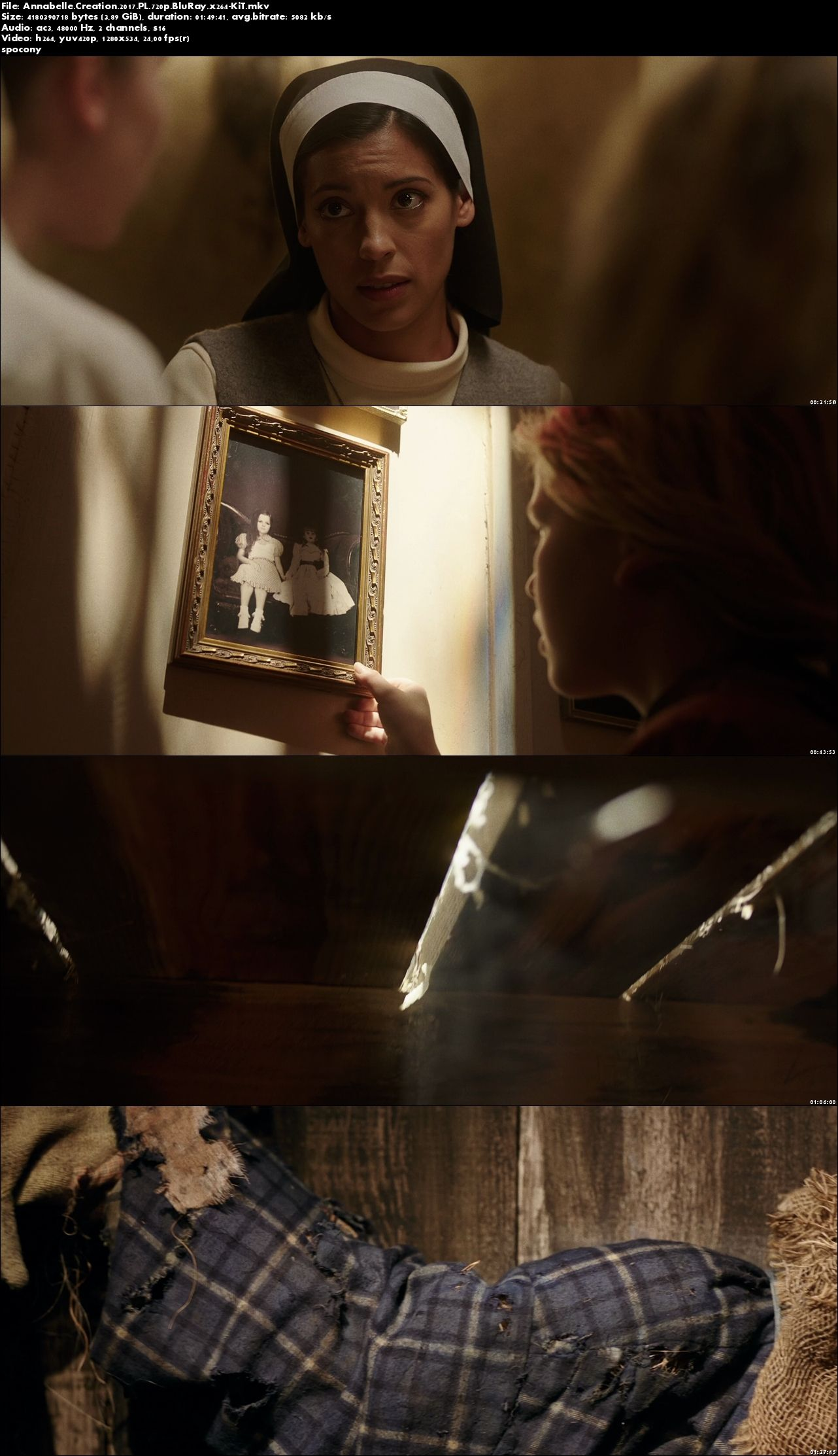 Annabelle: Narodziny zła / Annabelle: Creation (2017) PL.720p.BluRay.x264-KiT [Lektor PL]