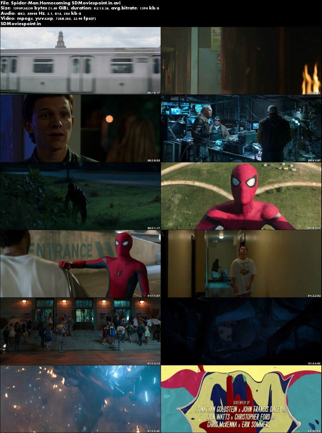 Screen Shots Spider-Man Homecoming 2017 Full HD Movie Download Hindi Dubbed