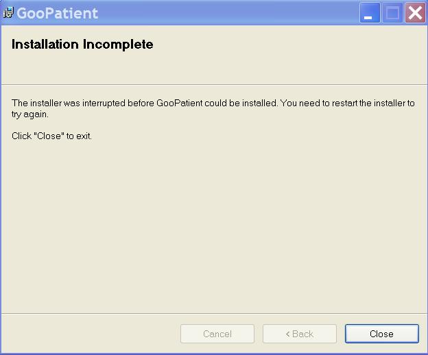 GooPatient error
