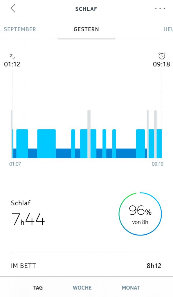 Nokia Health Mate App: Schlafanalyse