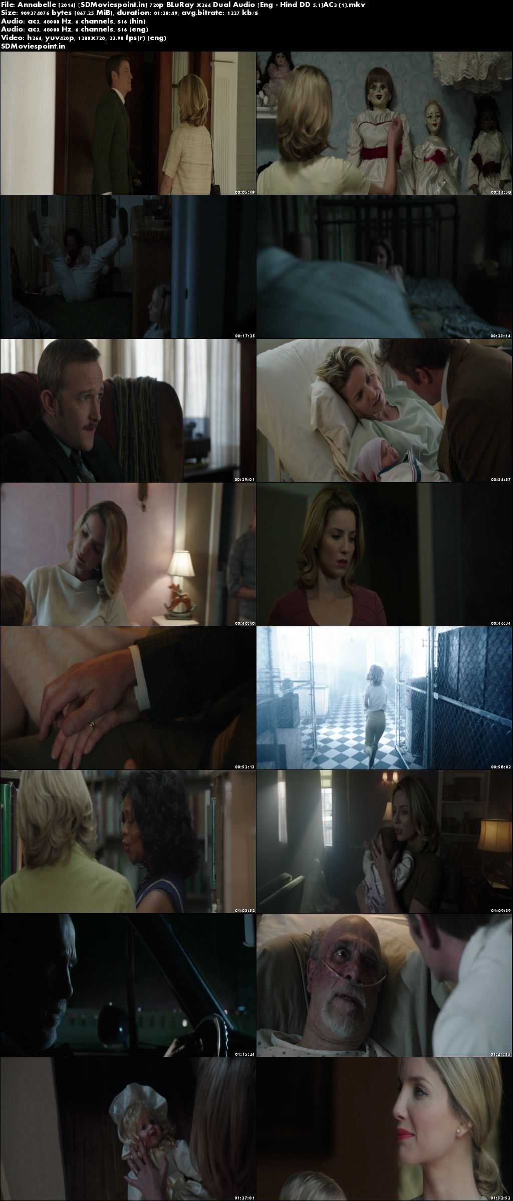 Screen Shots Annabelle (2014) Full HD Movie Download Hindi Dubbed 720p