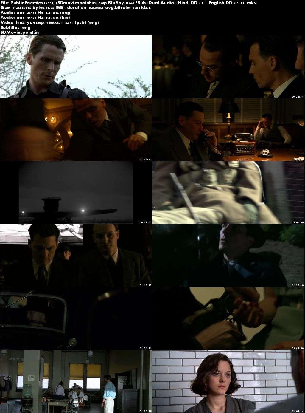 Screen Shots Public Enemies 2009 Full HD Movie Download Dual Audio Free 720p