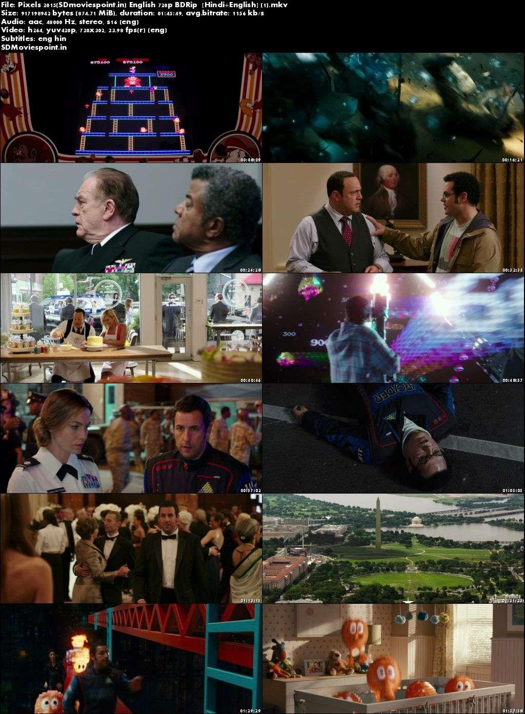 Screen Shots Pixels (2015) Full HD Movie Download Dual Audio Hindi Free 720p