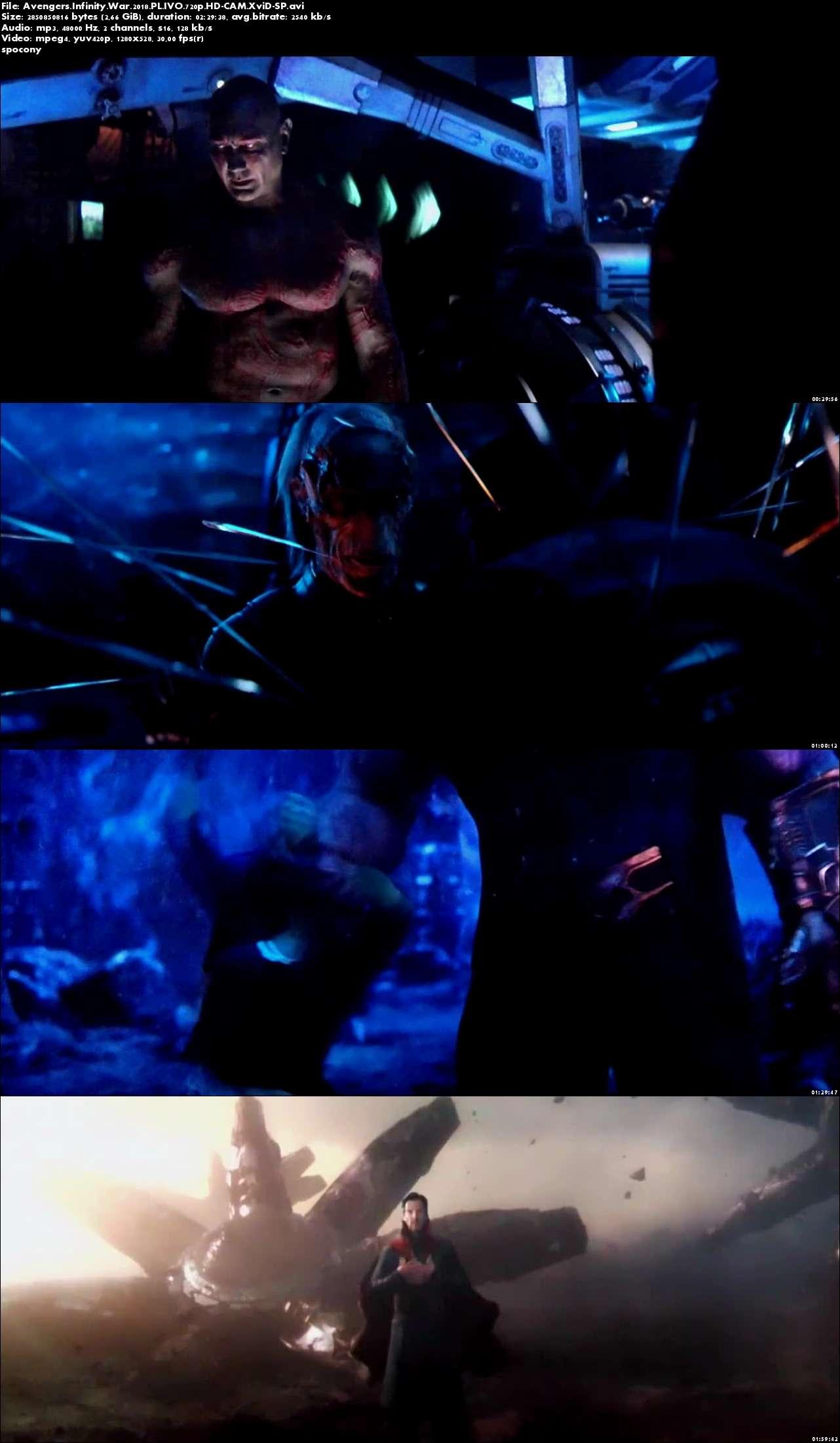 Avengers: Wojna bez granic / Avengers: Infinity War (2018) PL.IVO.720p.HD-CAM.XviD-SP [Lektor PL-IVO]
