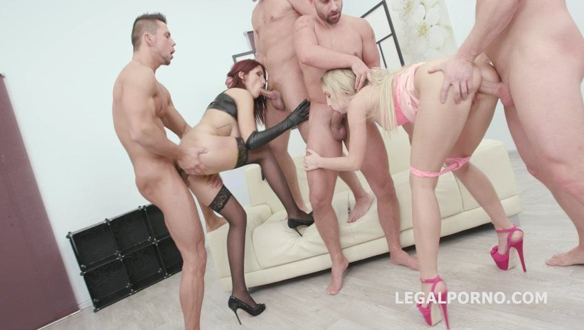 [LegalPorno] Balls Deep 5on2 with Amina Danger and Kira Thorn intense DAP Gapes Anal Fist Creampie To Swallow GIO500 |
