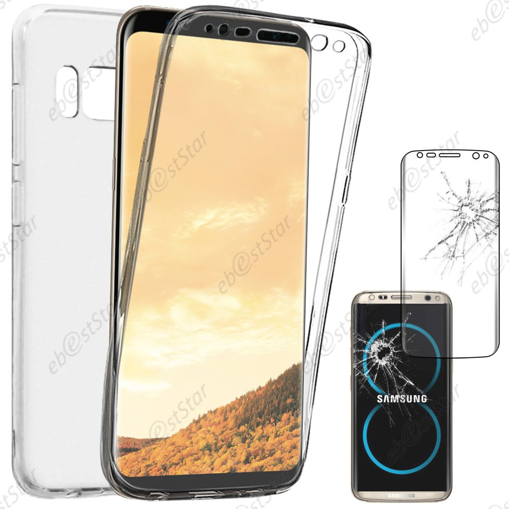 coque int grale silicone gel samsung galaxy s8 s8 plus s7 edge s6 edge s5 s4 ebay. Black Bedroom Furniture Sets. Home Design Ideas