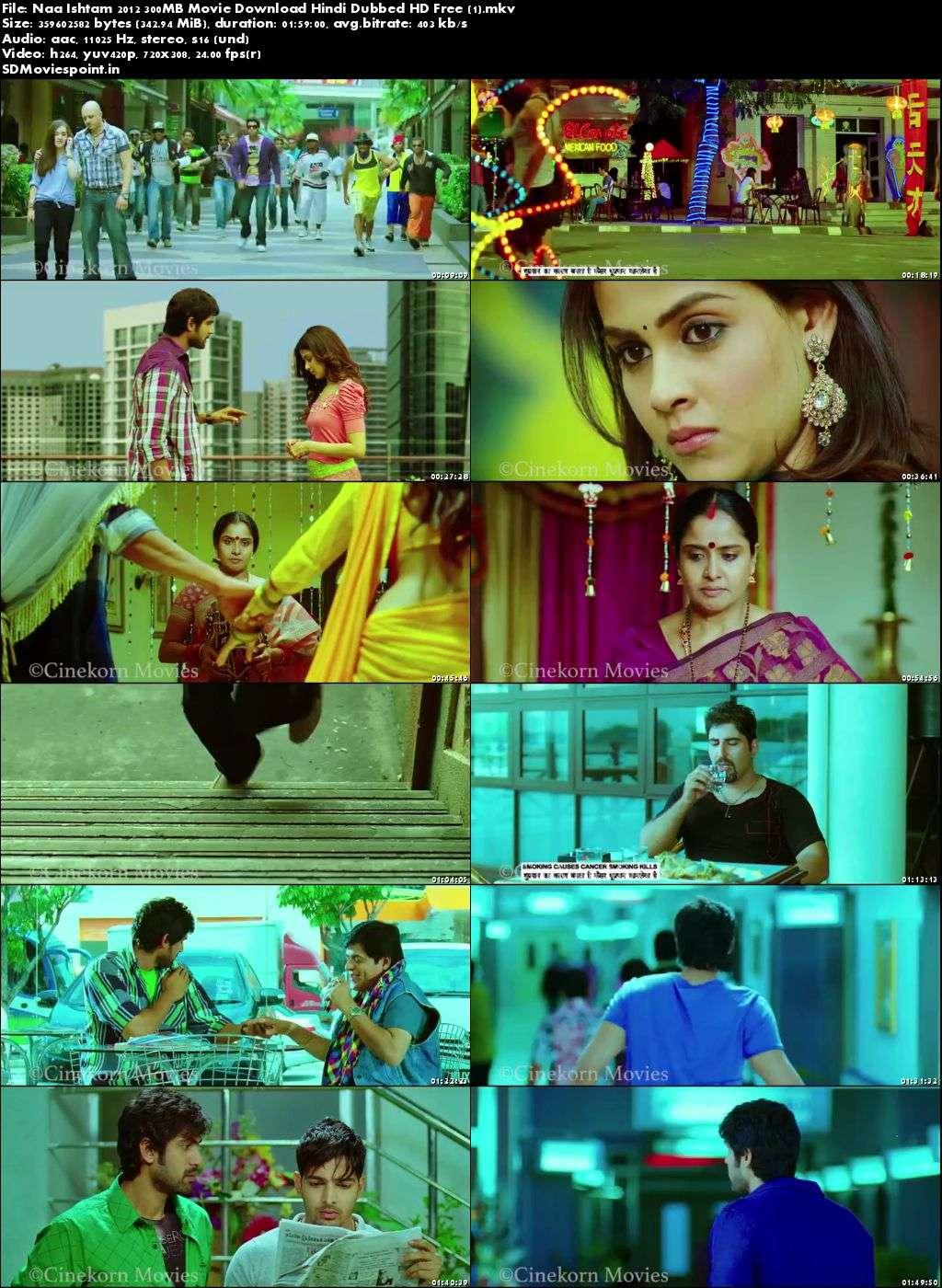 Screen Shots Naa Ishtam 2012 300MB Movie Download Hindi Dubbed HD Free