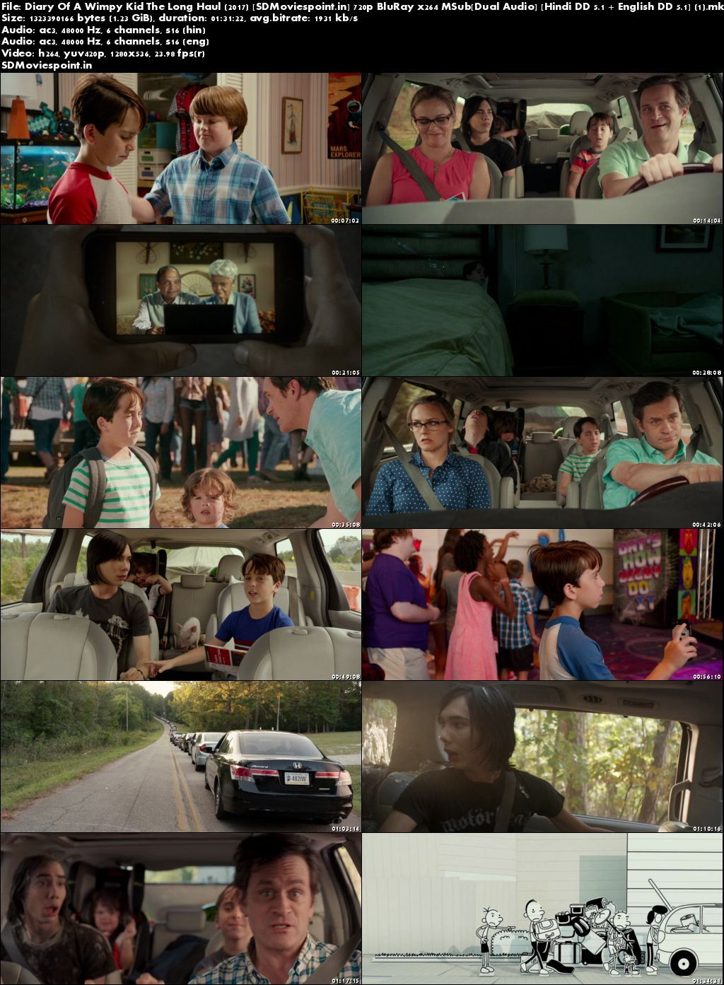 Screen Shots Diary of a Wimpy Kid: The Long Haul 2017 Download Dual Audio Hindi 720p Free