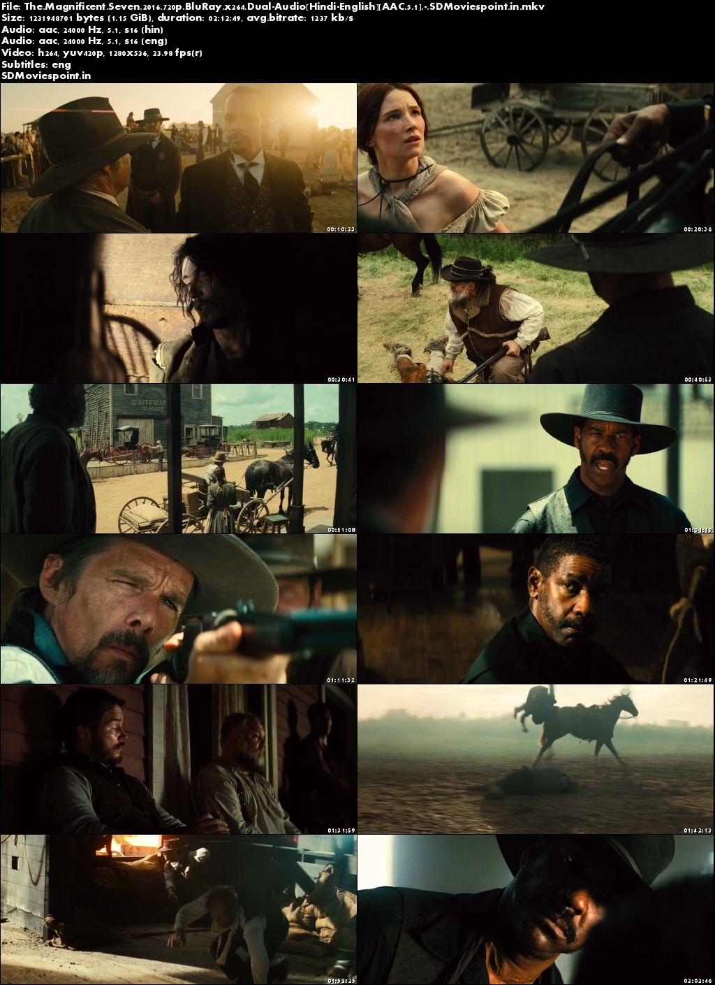 Screen Shot The Magnificent Seven 2016 Full HD Movie Download Hindi Dubbed