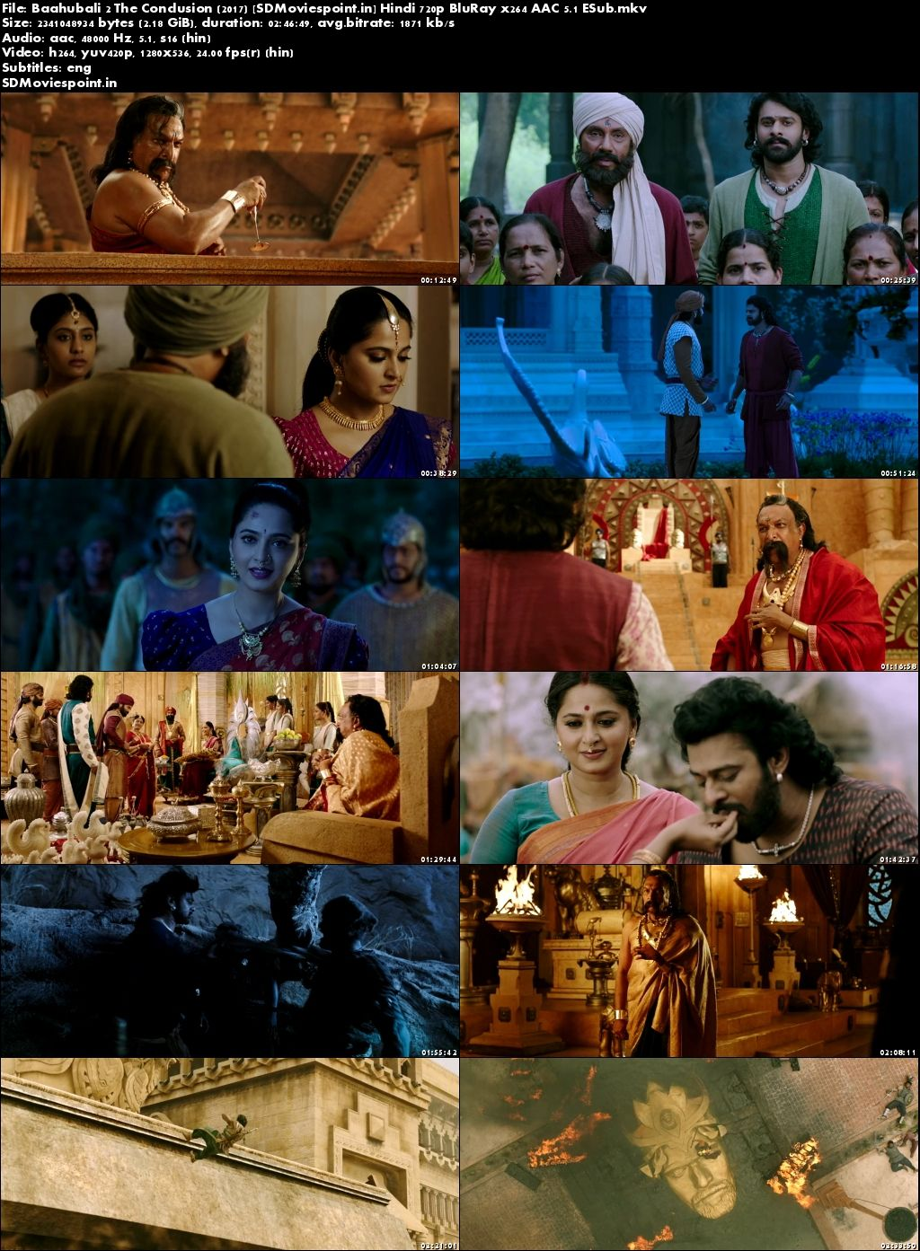 Screen Shots Baahubali 2 (2017) Full HD Movie Download Free In Hindi 720p