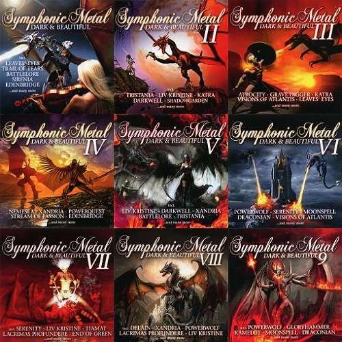 VA - Symphonic Metal - Dark & Beautiful I-IX | MP3