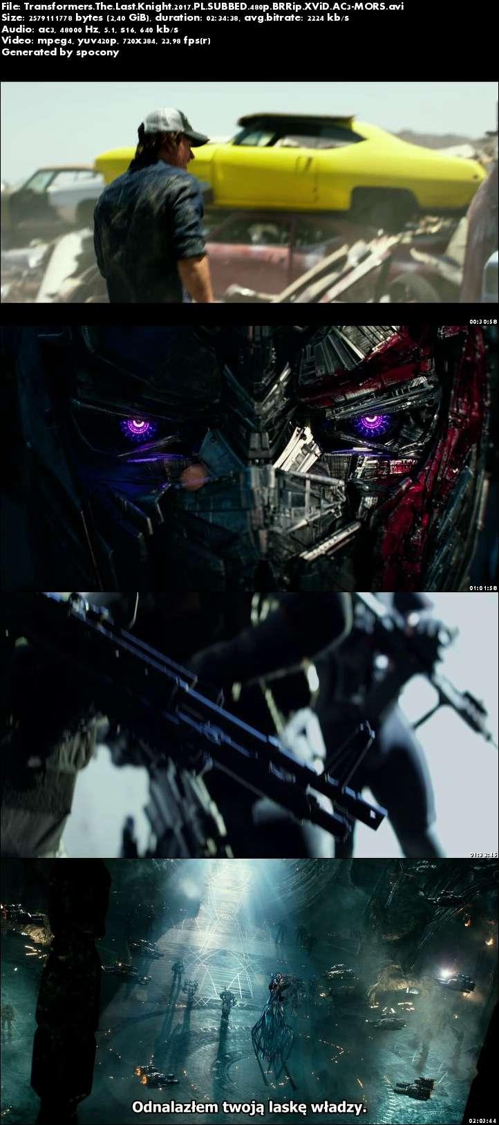 Transformers: Ostatni Rycerz / Transformers The Last Knight (2017) PL.SUBBED.480p.BRRip.XViD.AC3-MORS [Napisy PL]