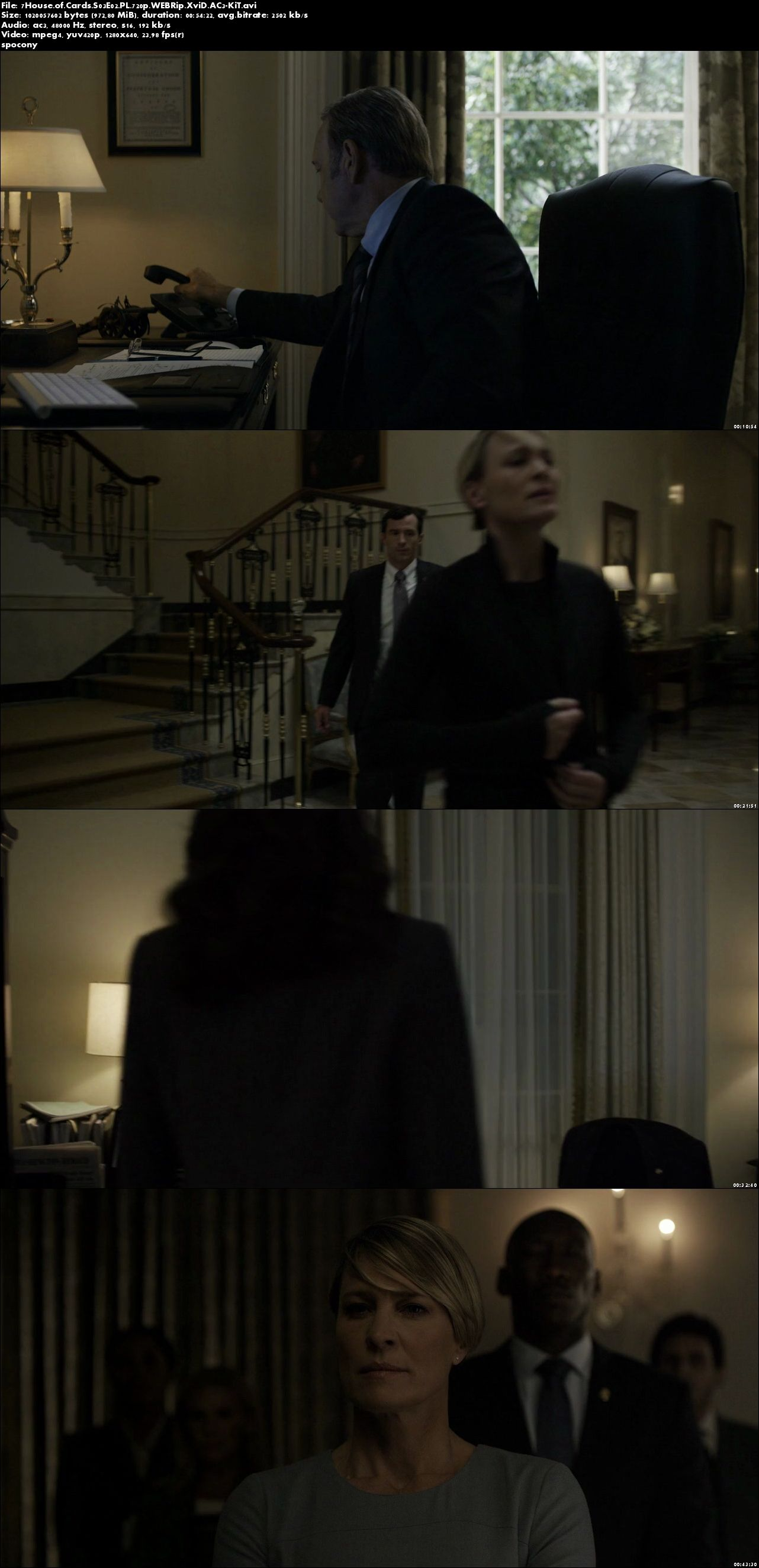 House of Cards (2015) {Sezon 3} (Pełen sezon) PL.720p.WEBRip.XviD.AC3-KiT [Lektor PL]