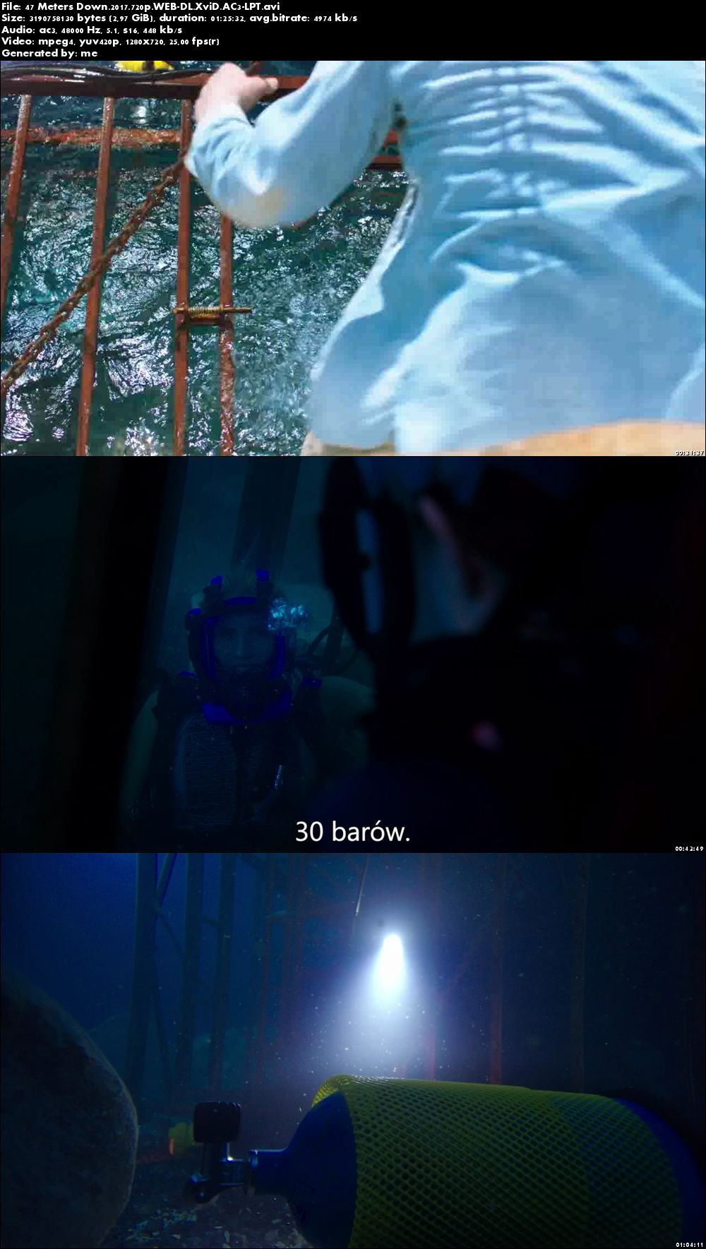 In the Deep / 47 Meters Down (2016) PLSUBBED.720p.WEB-DL.XviD.AC3-LPT / POLSKIE NAPISY