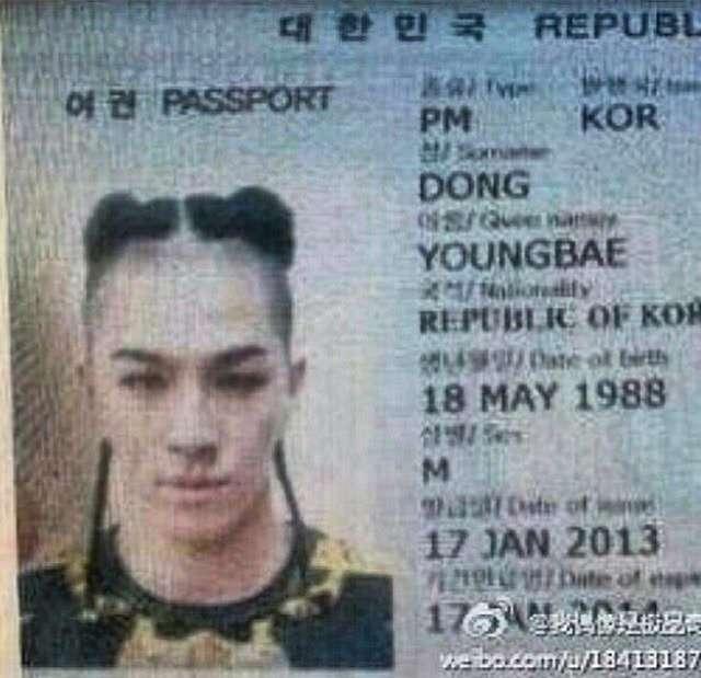 태양 여권 사진