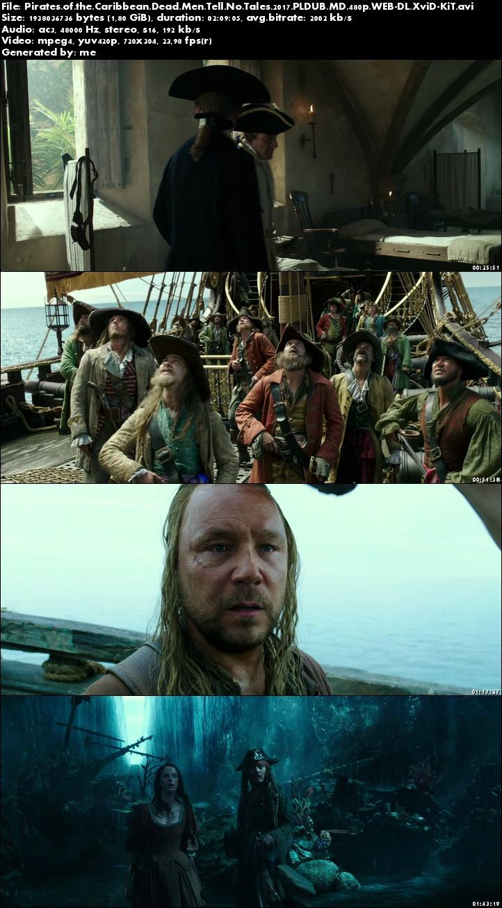 Piraci z Karaibów: Zemsta Salazara / Pirates of the Caribbean Dead Men Tell No Tales (2017) PLDUB.MD.480p.WEB-DL.XviD-KiT / Dubbing PL Kinowy