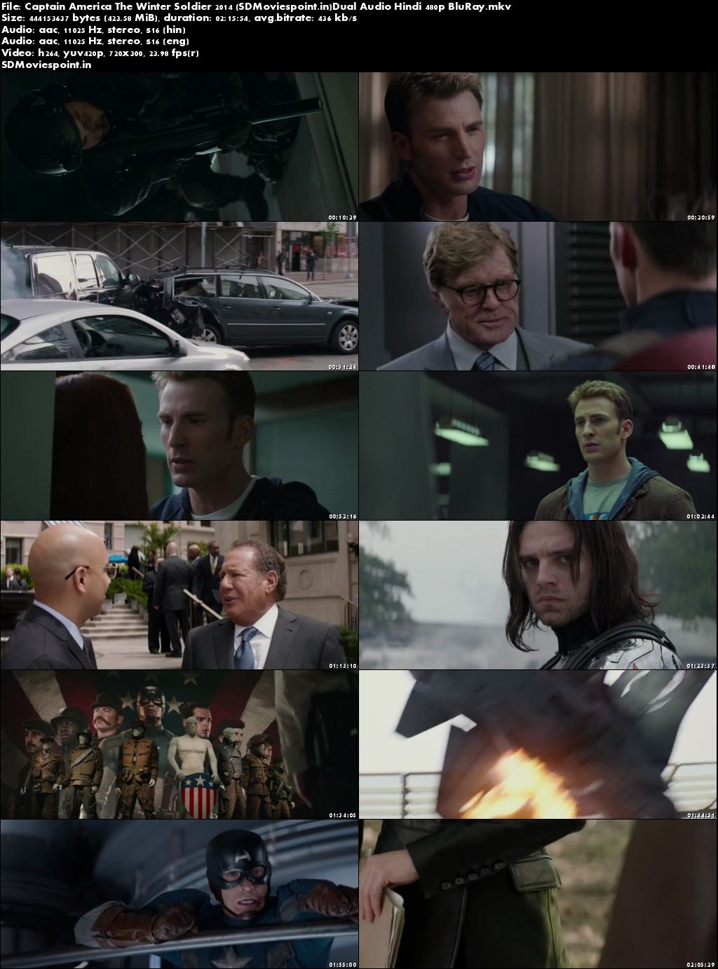 Screen Shots Captain America The Winter Soldier (2014) Full Hindi Movie Download Dual Audio