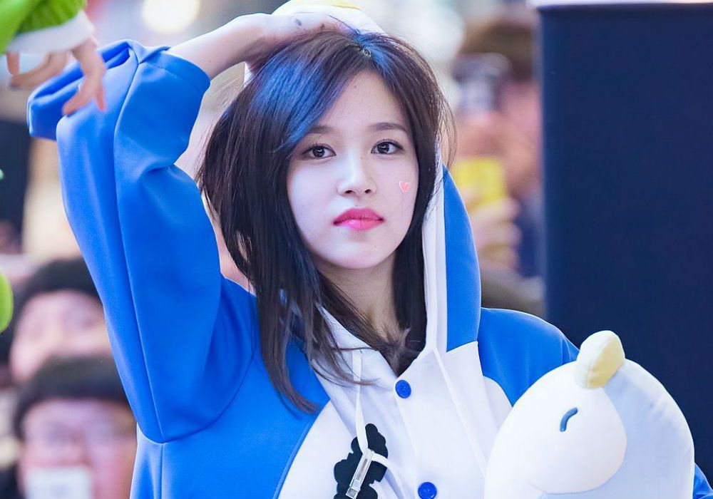 This fan's birthday present for TWICE's Mina might be the cutest gift of all time
