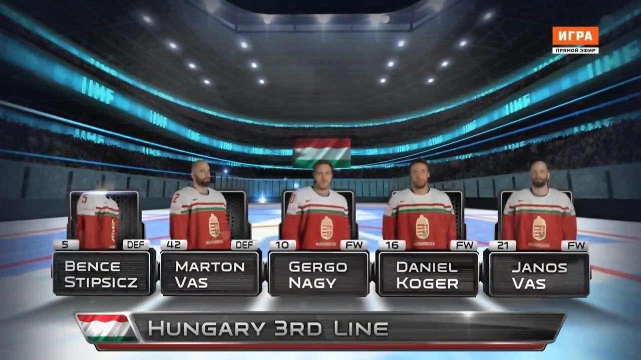 Хоккей. Чемпионат мира 2016. Группа B. 3 тур. Венгрия - Франция [10.05] | HDTVRip 720p | 50fps