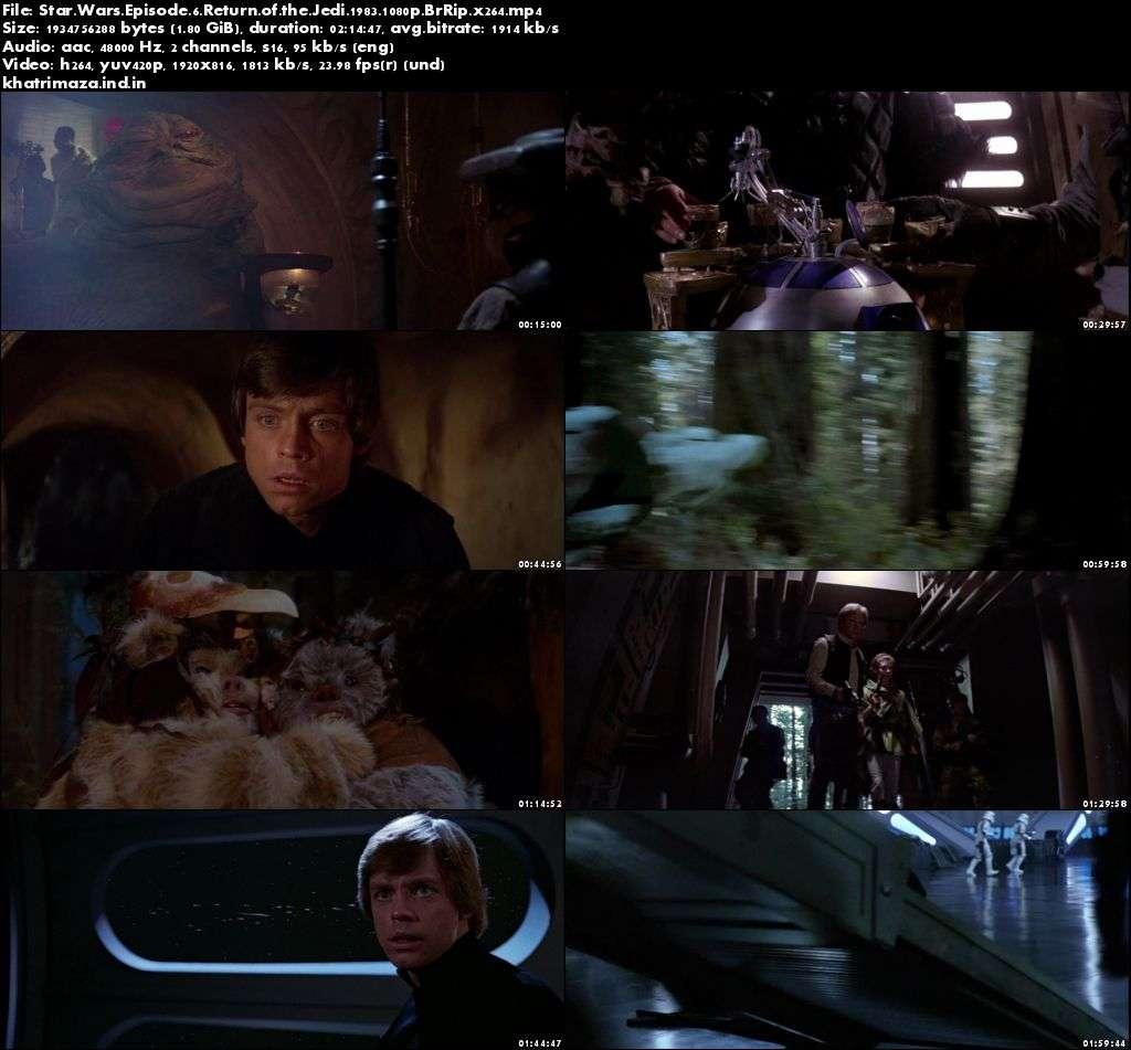 Star Wars Episode VI Return of the Jedi 1983 Hollywood Movie Download in 1080p BRRip