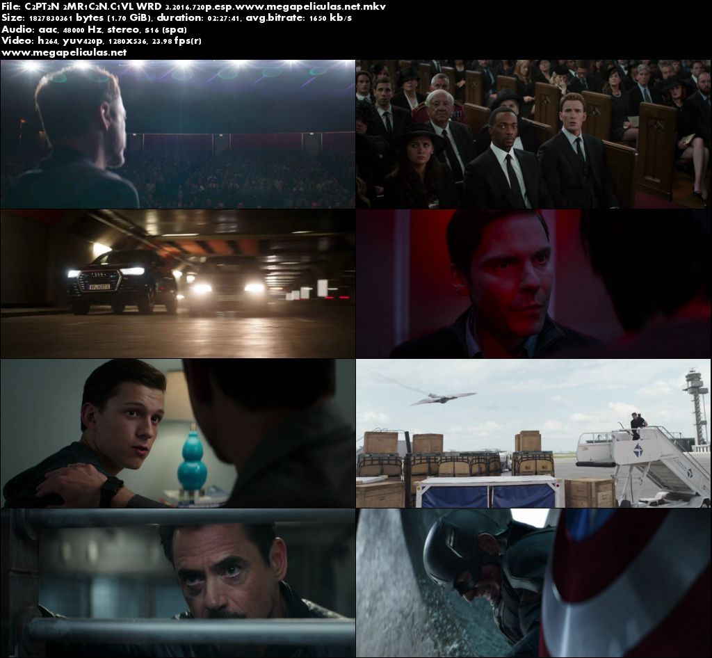 Capturas de Capitan America 3 Civil War (2016) [BrRip 720p][Latino]