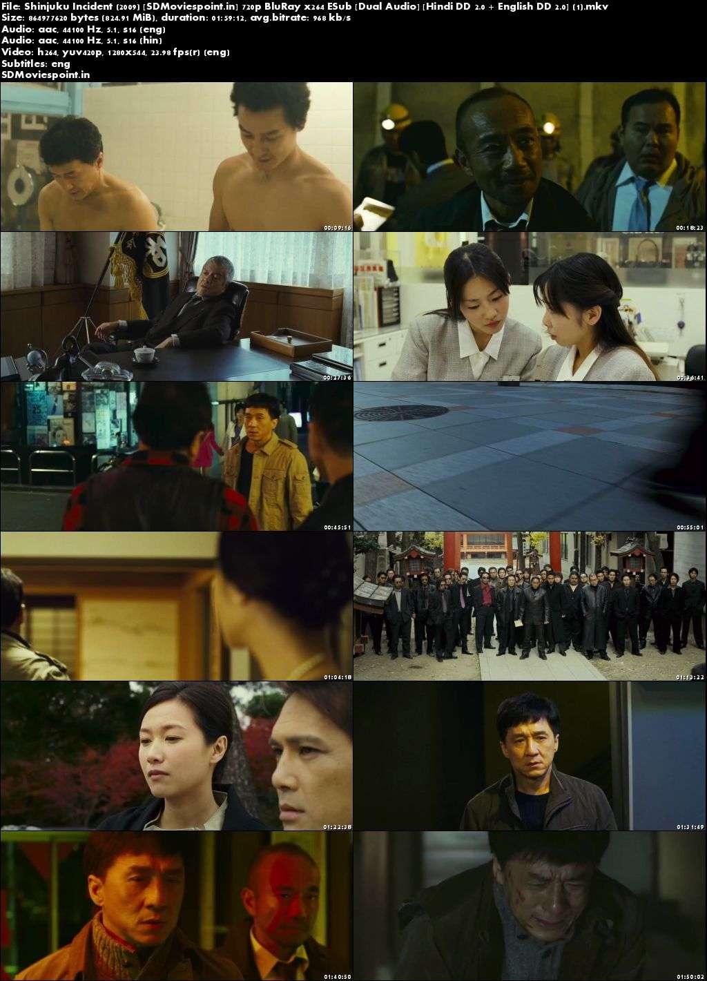 Screen shots Shinjuku Incident 2009 Full HD Movie Download Dual Audio Free 720p