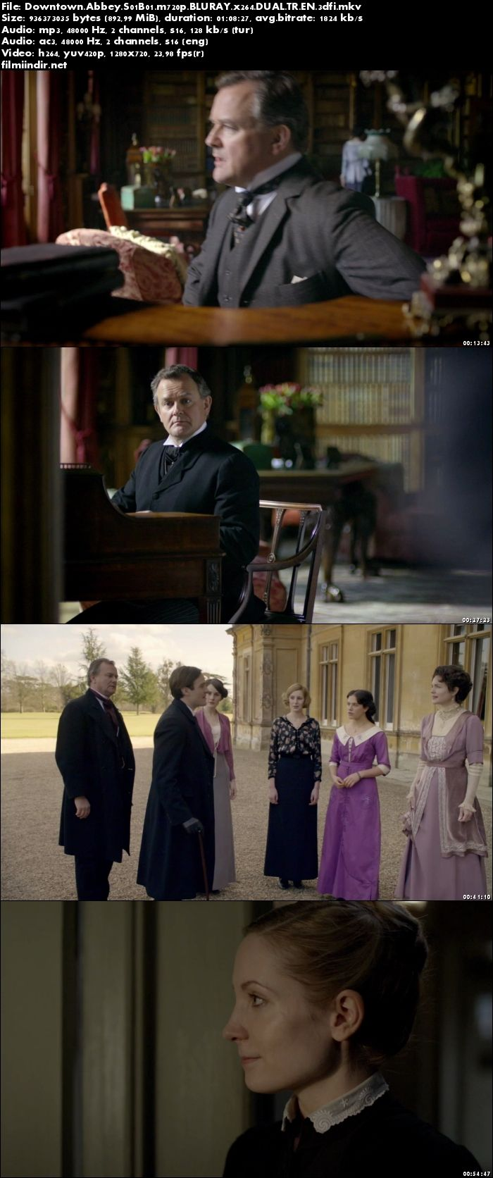 Downton Abbey (2010–) 1. Sezon Tüm Bölümler (m720p BluRay DUAL TR EN) - türkçe dublaj indir
