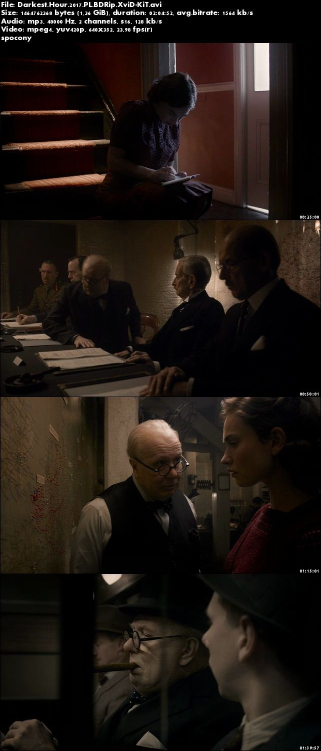 Czas mroku / Darkest Hour (2017) PL.BDRip.XviD-KiT [Lektor PL]