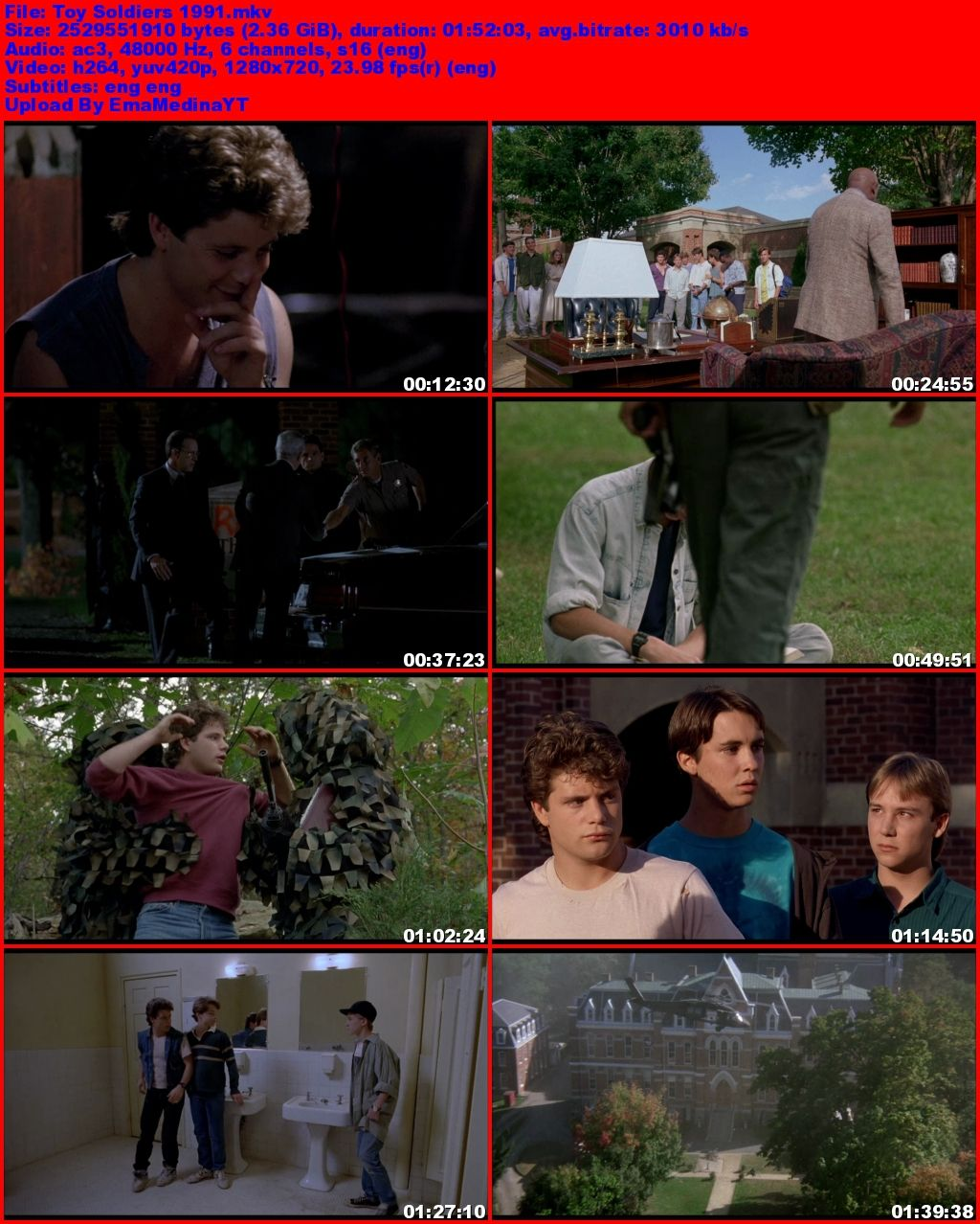Toy Soldiers [1991] [720p BluRay] [Ingles] [MG+]