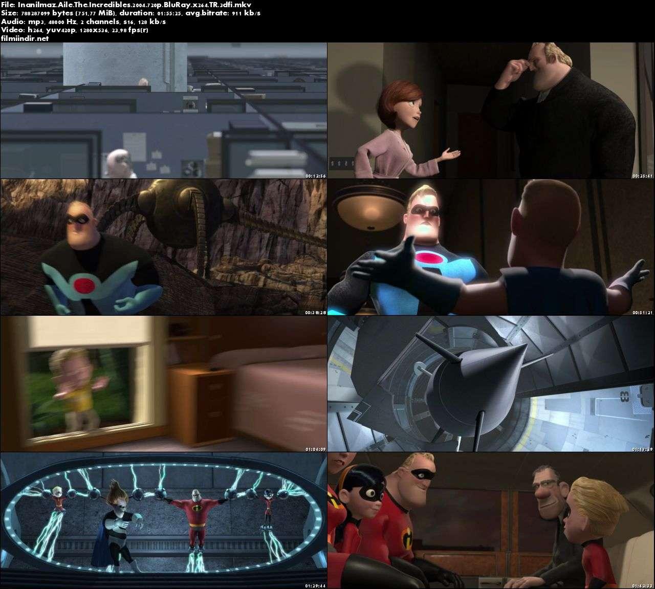 İnanılmaz Aile - The Incredibles (2004) türkçe dublaj film indir