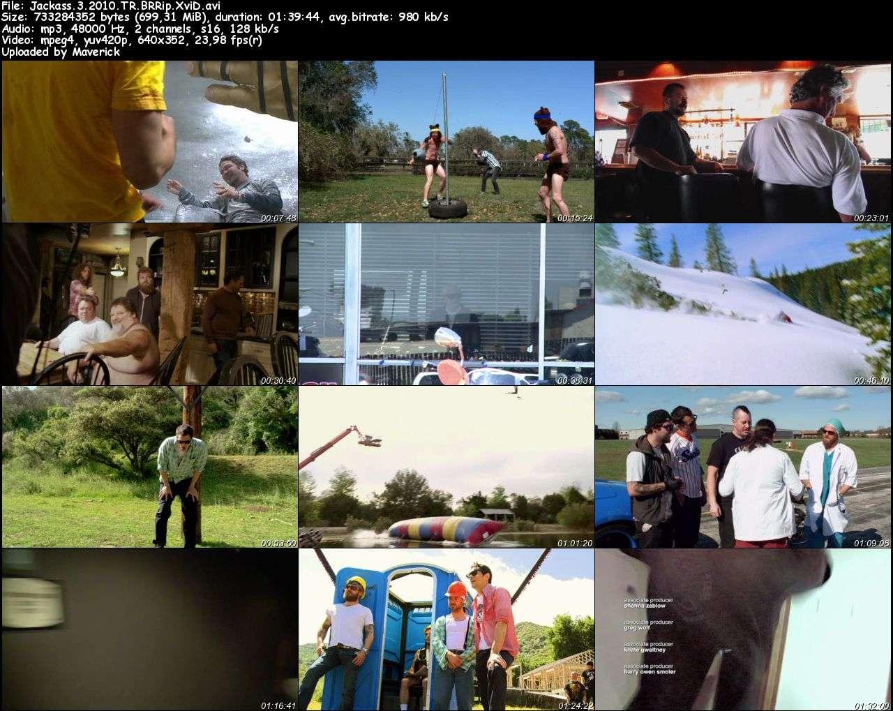Jackass 3D - 2010 Türkçe Dublaj BRRip indir