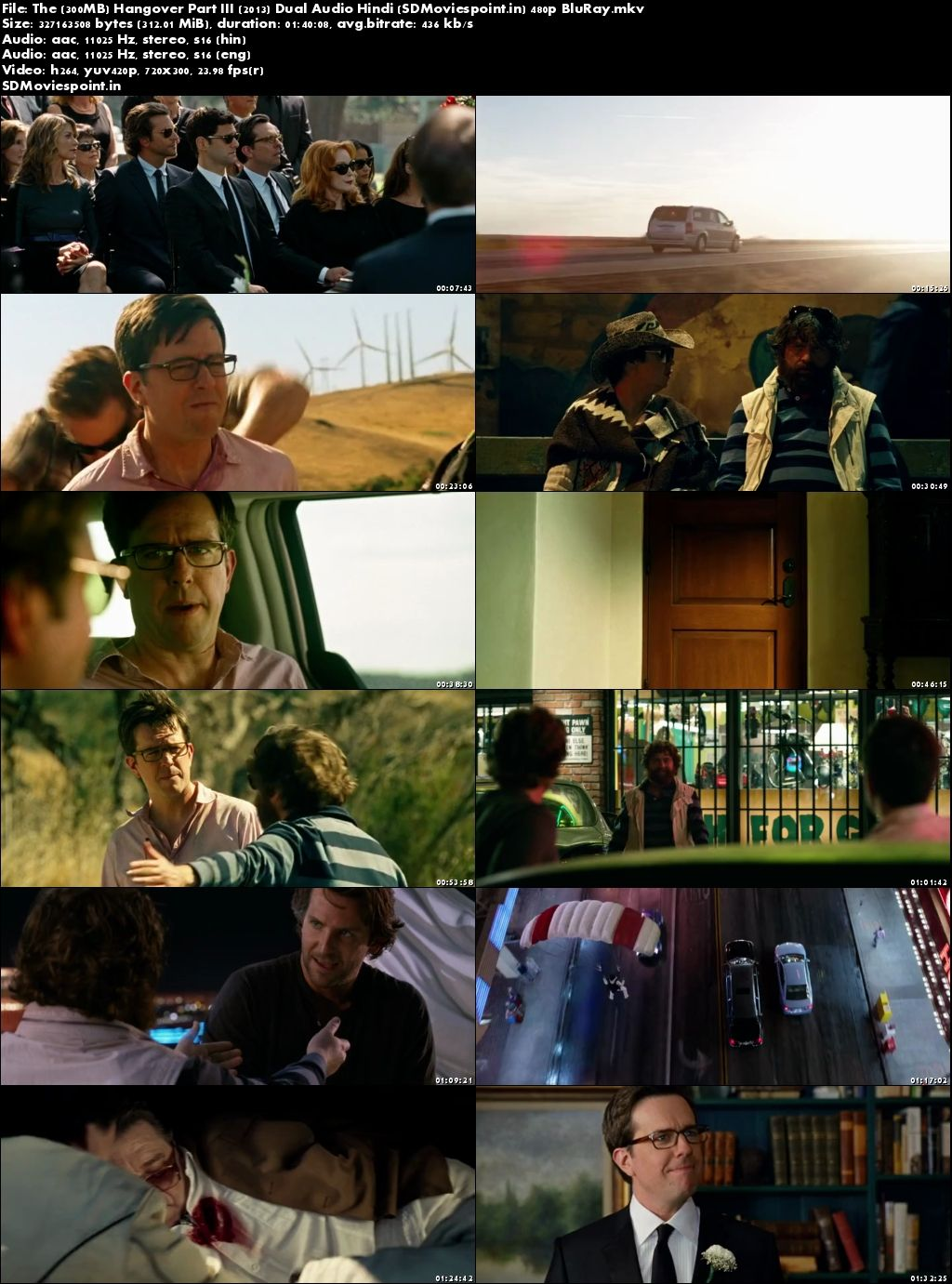 Screen Shos The Hangover Part III (2013) Full Hindi Movie Download 300MB