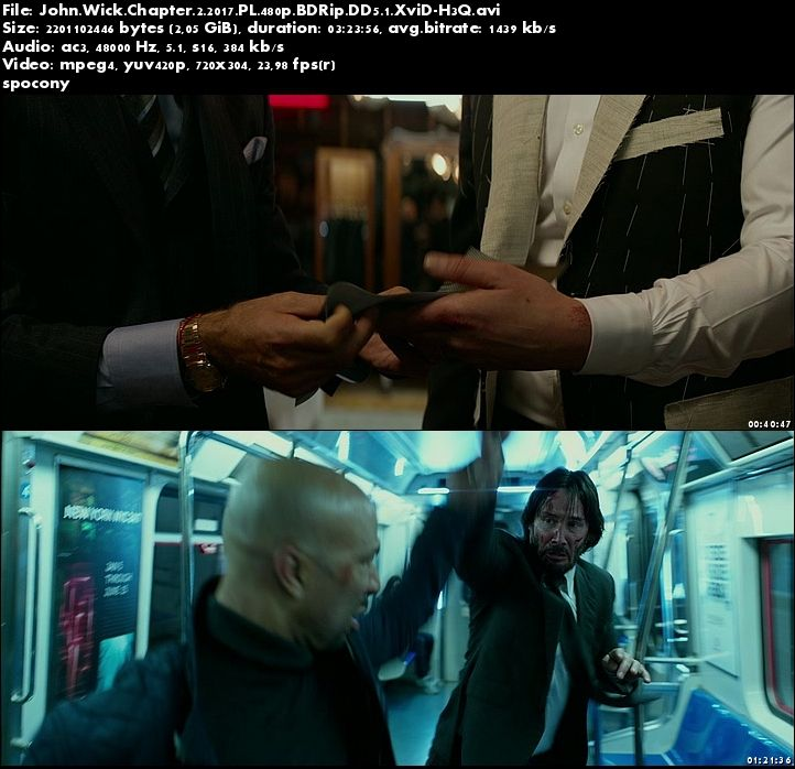 John Wick Chapter 2 (2017) PL.480p.BDRip.DD5.1.XviD-H3Q [Lektor PL]