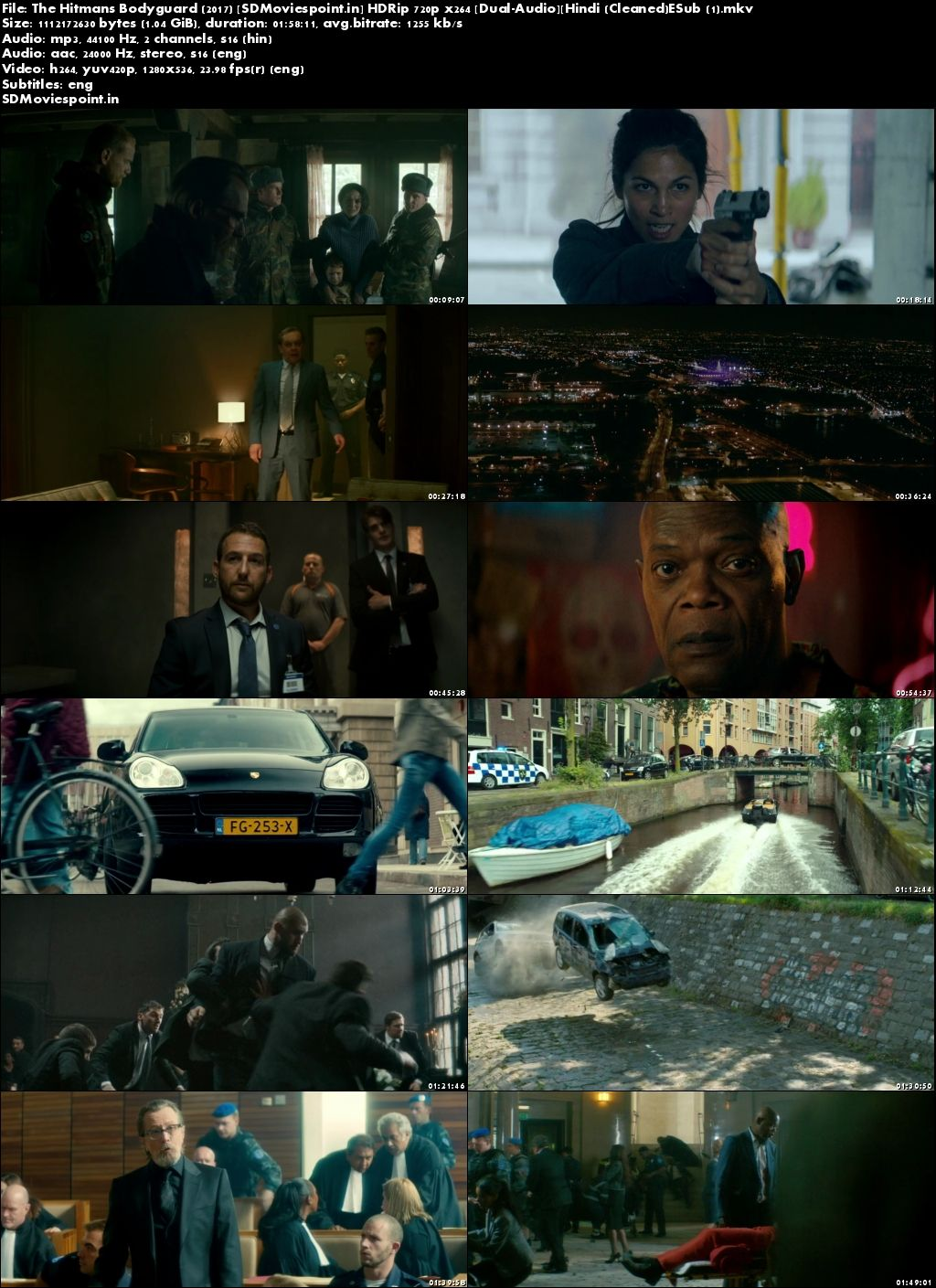 Screen Shots The Hitman's Bodyguard (2017) Full HD Movie Dual Audio In Hindi 720p