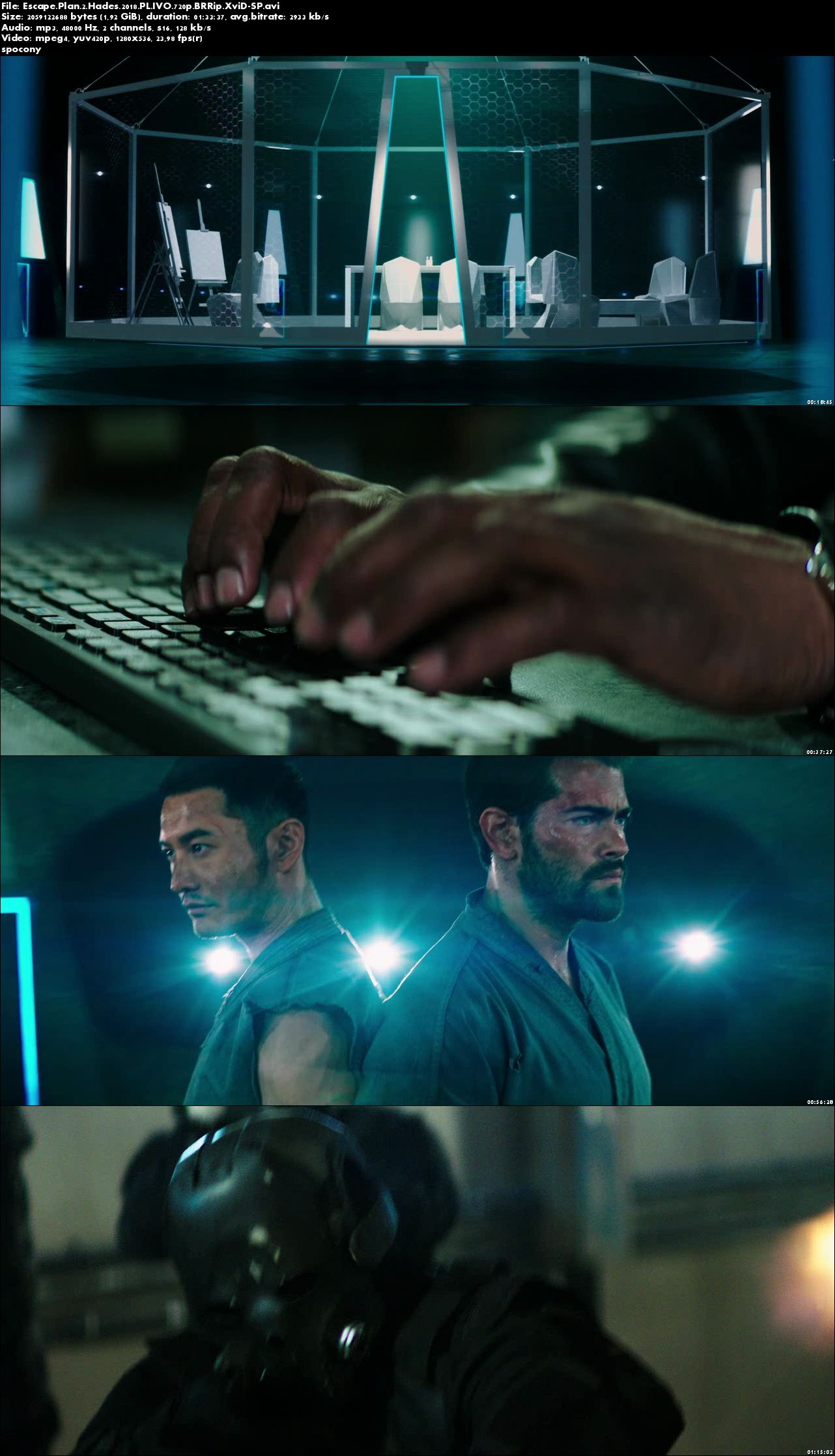 Escape Plan 2: Hades (2018) PL.IVO.720p.BRRip.XviD-SP [Lektor PL-IVO]