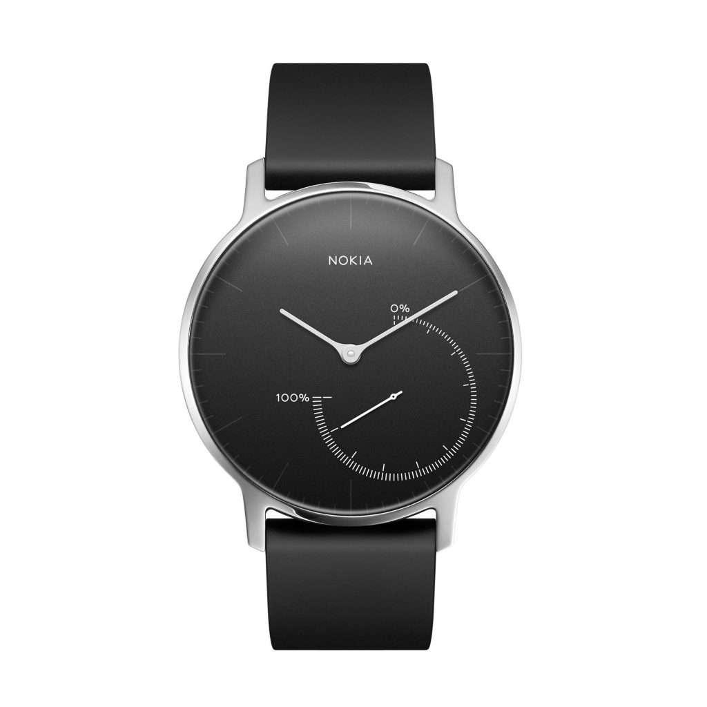 Nokia Steel Smartwatch mit analogem Display mit Schrittzähler-Funktion