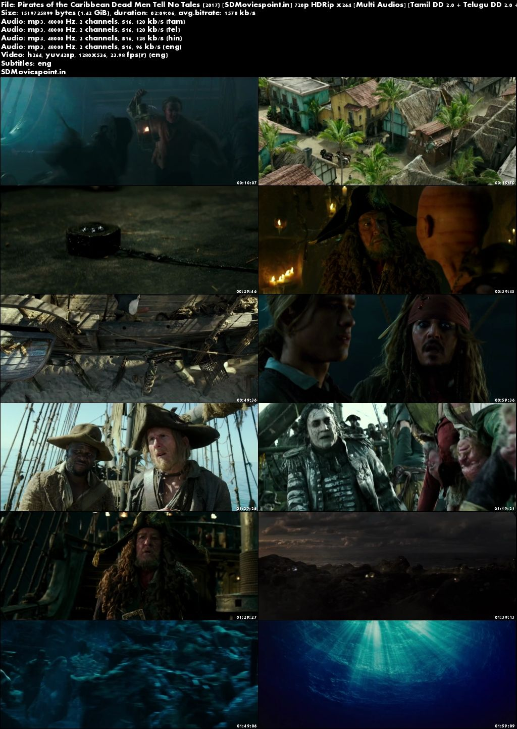 Screen Shots Pirates of The Caribbean Dead Men Tell No Tales in Hindi Dubbed 720p HD