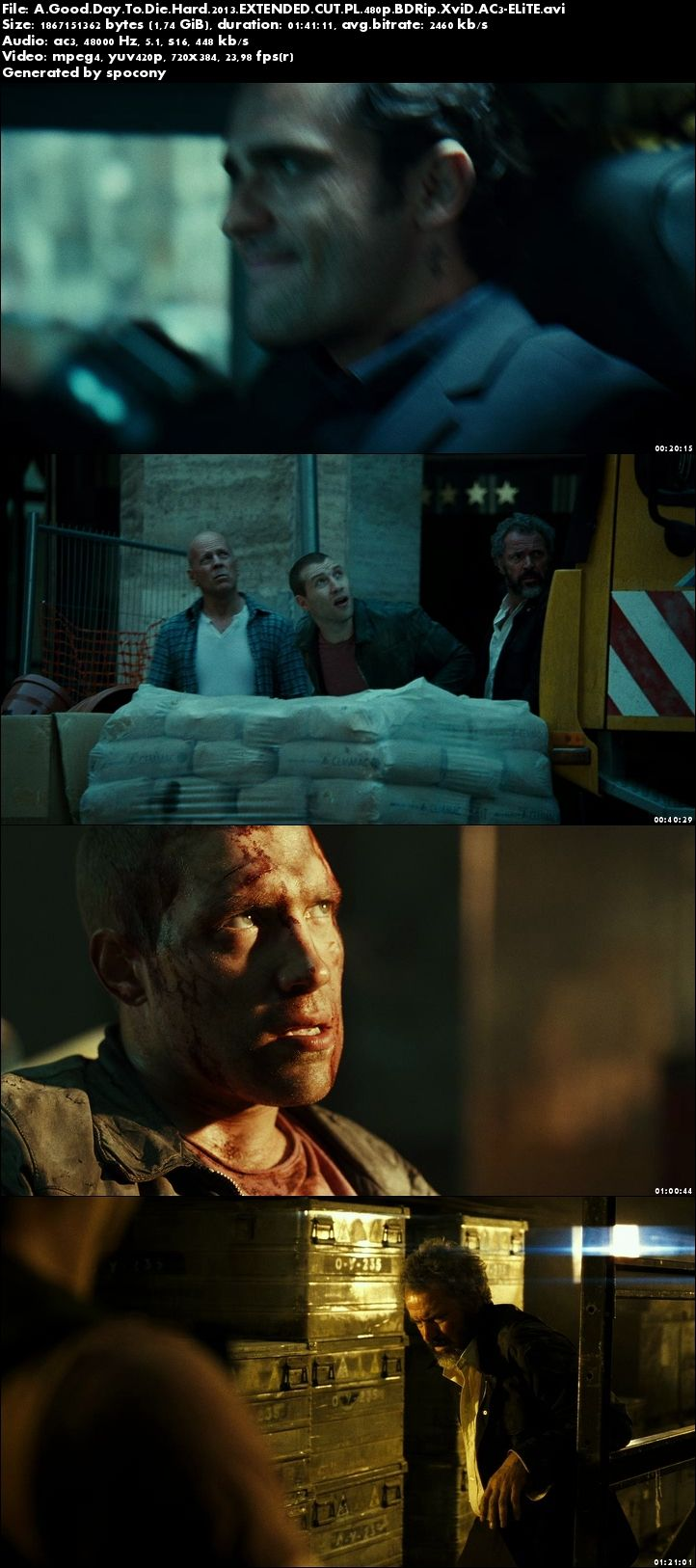 Szklana pułapka 5 / A Good Day to Die Hard (2013) EXTENDED.CUT.PL.480p.BDRip.XviD.AC3-ELiTE [Lektor PL]