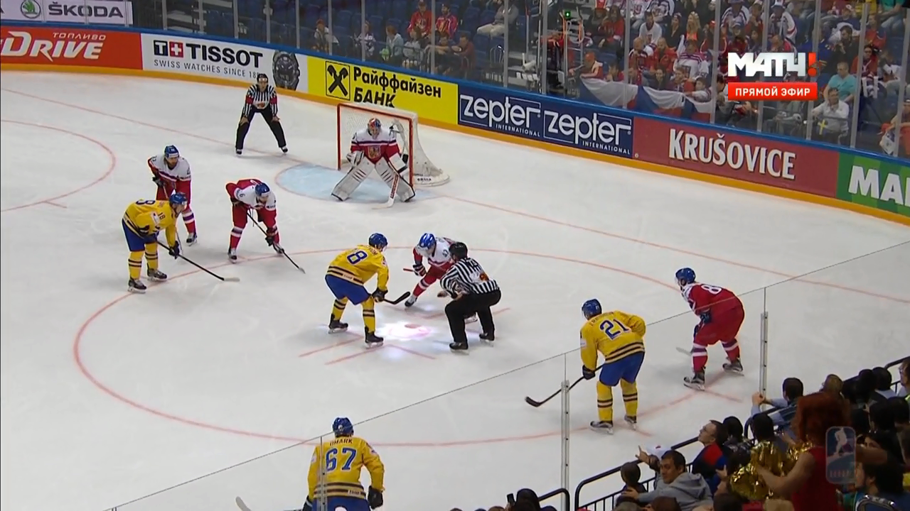 Хоккей. Чемпионат мира 2016. Группа A. 3 тур. Швеция - Чехия [09.05] | HDTVRip 720p | 50fps